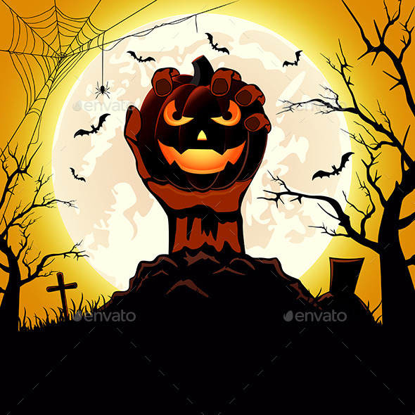 Pumpkin in the Hand - Halloween Seasons/Holidays
