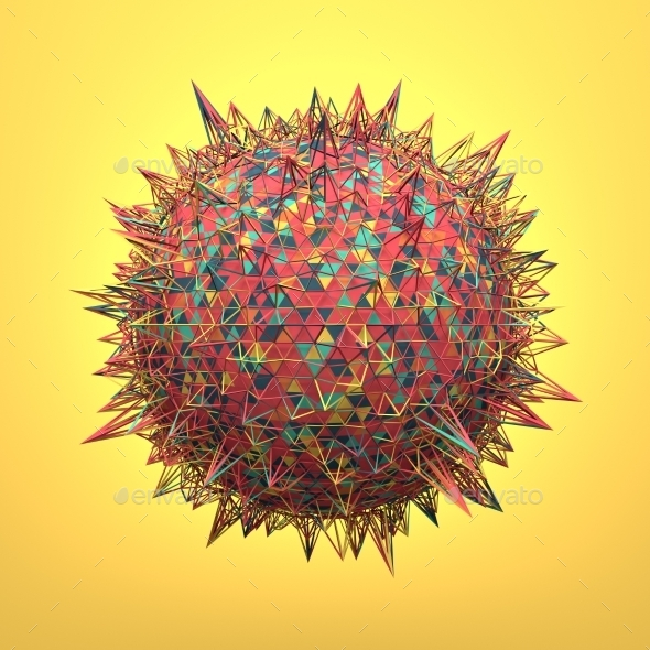 Rendering Of Sphere With Chaotic Structure