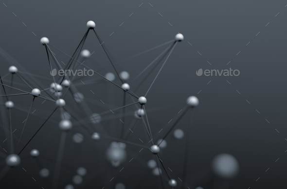 Abstract 3D Rendering Of Structure With Spheres. - Tech / Futuristic Backgrounds