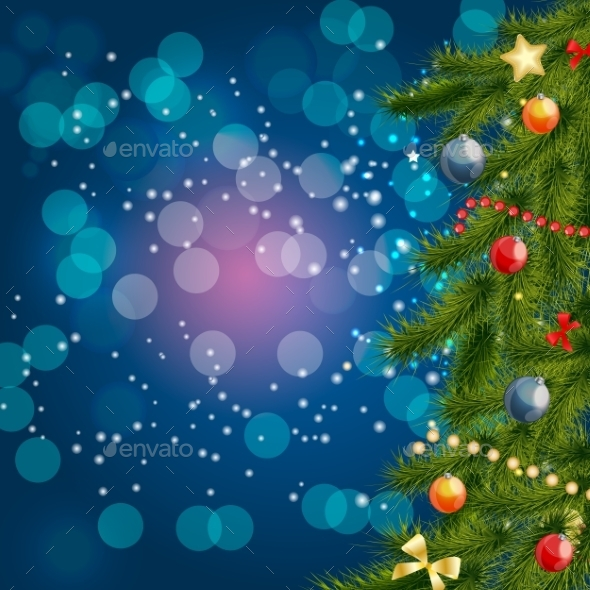 Abstract Beauty Christmas And New Year Background - Christmas Seasons/Holidays