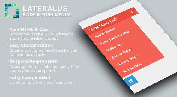 Lateralus - Slide & Push Menus - CodeCanyon Item for Sale
