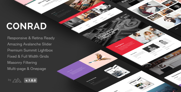 Conrad – Creative Multi-Purpose HTML Template