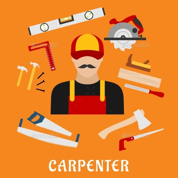 Carpenter And His Toolbox Tools - Industries Business