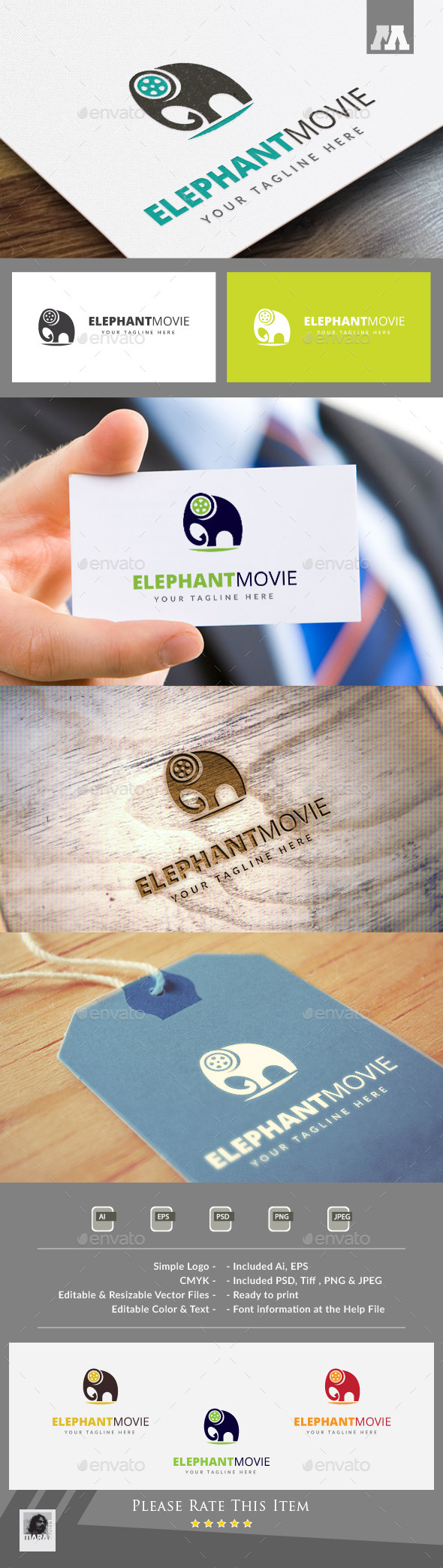 Elephant Movie Logo Template - Symbols Logo Templates