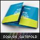 Square Gate Fold Brochure Mockup - GraphicRiver Item for Sale