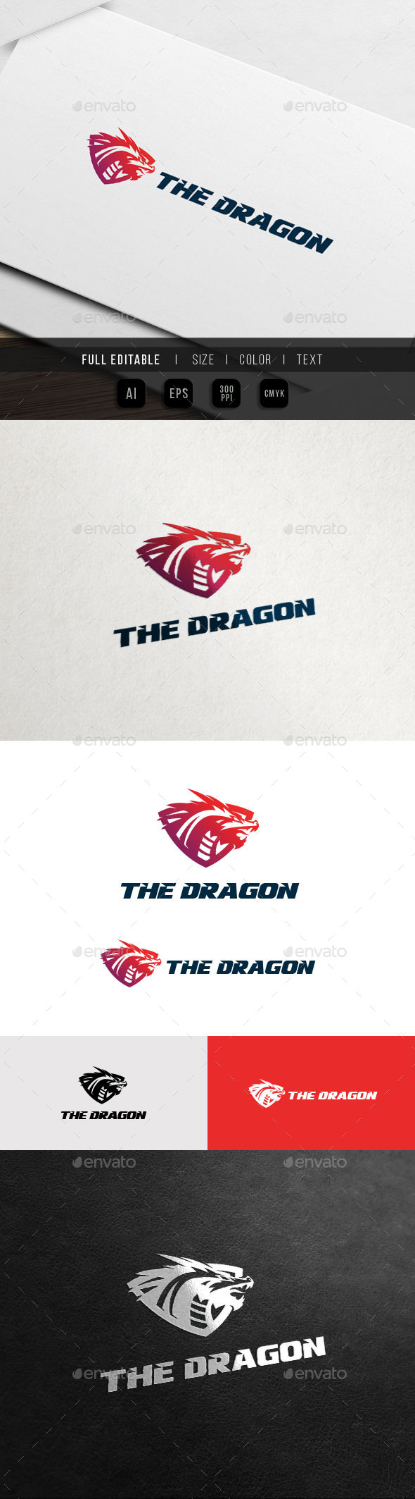Dragon Shield - Game Team Logo - Crests Logo Templates