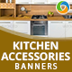 Kitchen Accessories Banners - GraphicRiver Item for Sale