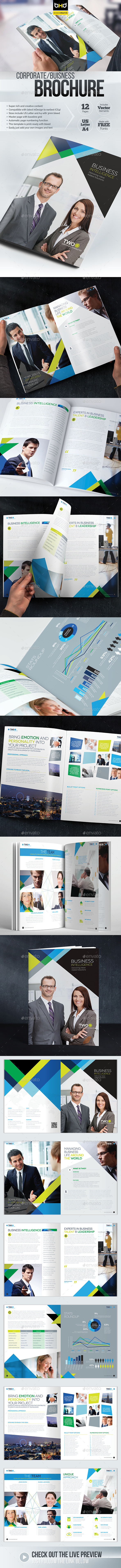Brochure Template - InDesign 12 Page Layout 08 - Brochures Print Templates