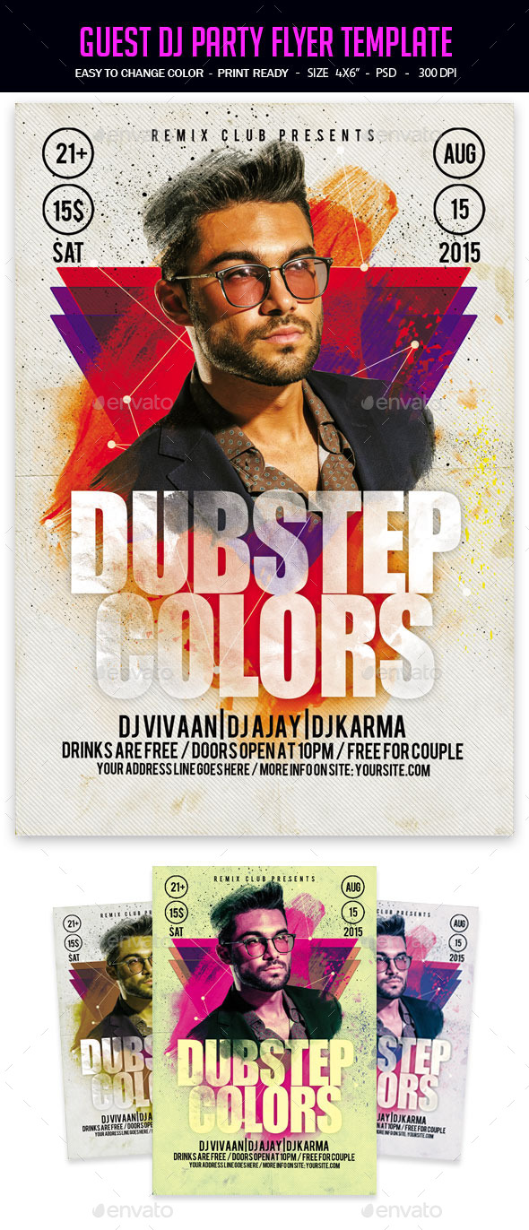 Guest Dj Party Flyer Template - Clubs & Parties Events