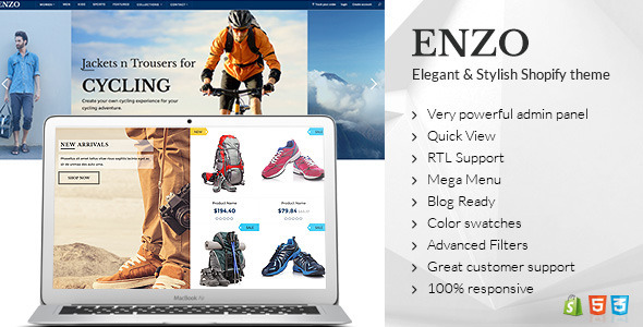 ENZO – Shopify Multi Purpose theme