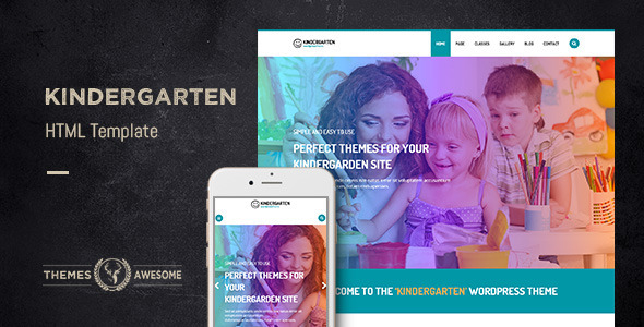 Image of Kindergarten HTML template