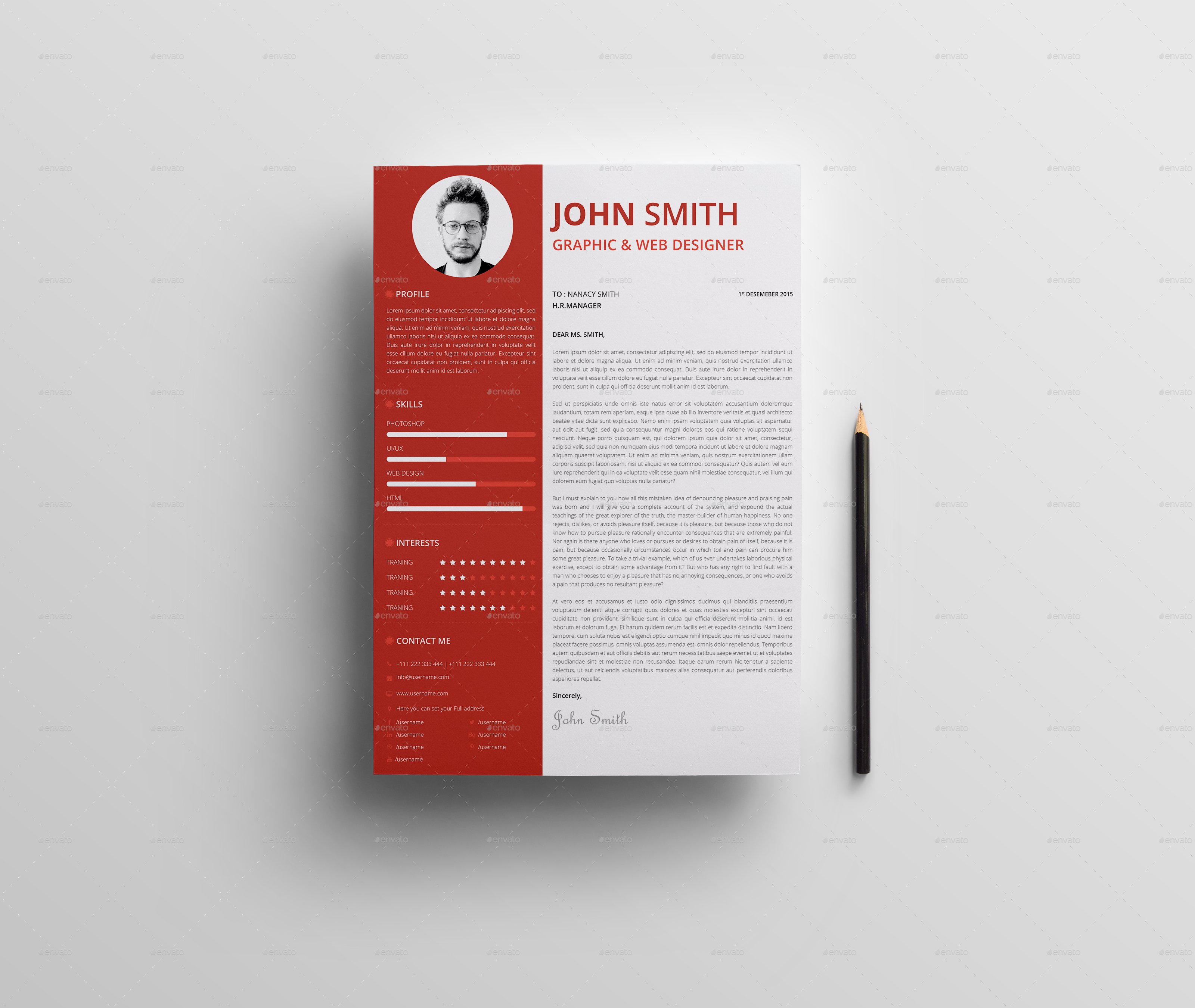Personal Resume CV by hythamalsha3r | GraphicRiver