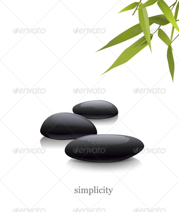 stones and bamboo - Conceptual Vectors
