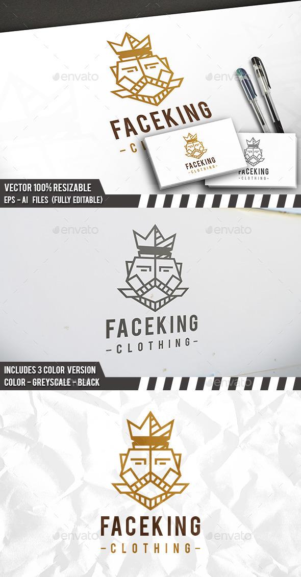 King Face Logo - Humans Logo Templates