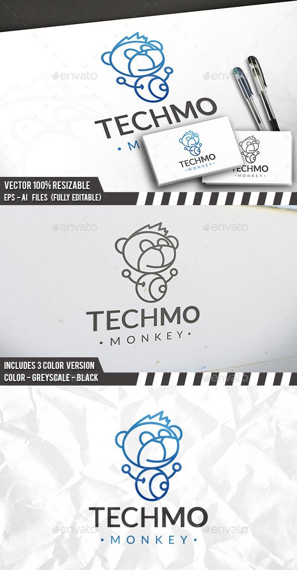 Tech Monkey Logo - Animals Logo Templates