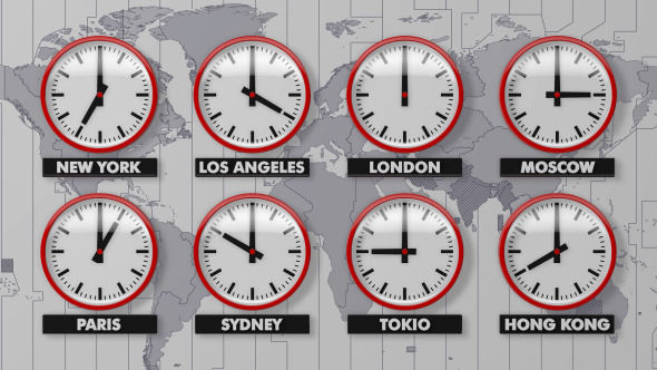 The world clock time zones