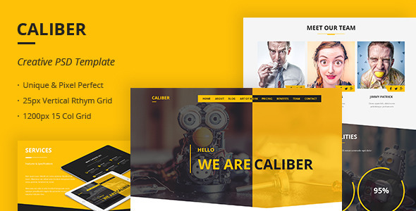 Caliber – Creative Multi Purpose PSD Template
