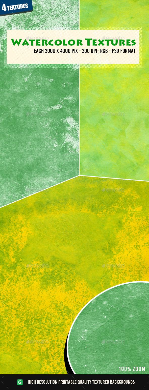 Watercolor Texture Pack 58 - Art Textures