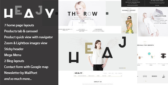Heajy – Handmade Fashion WordPress Theme
