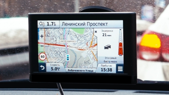Driving In Moscow With GPS Navigation