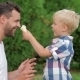 Father And Son Eating Icecream Together - VideoHive Item for Sale