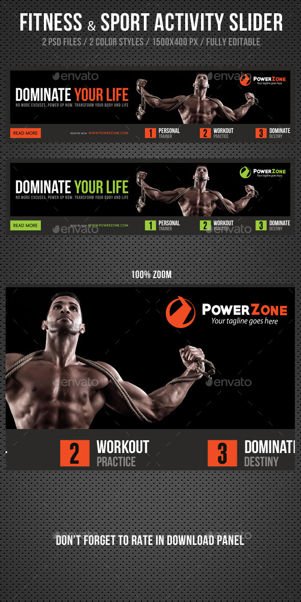 Fitness & Sport Activity Slider V2 - Sliders & Features Web Elements
