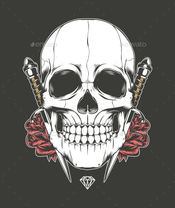 Skull Rose and Dagger - People Characters