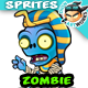 Zombie 2D Game Character Sprites 96 - GraphicRiver Item for Sale
