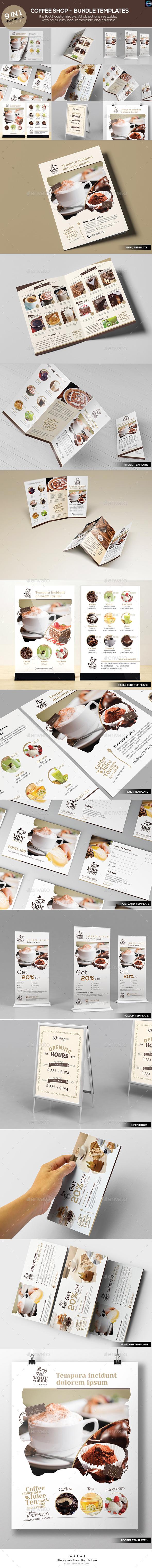 Coffee Shop - Bundle Templates - Food Menus Print Templates