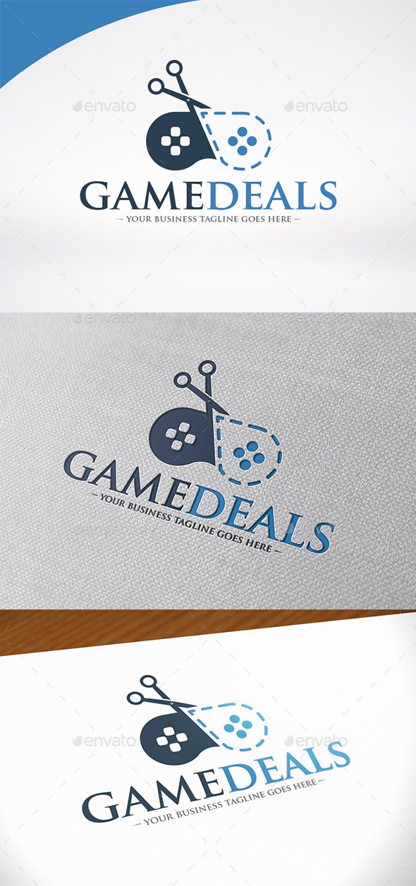 Game Discounts Logo Template