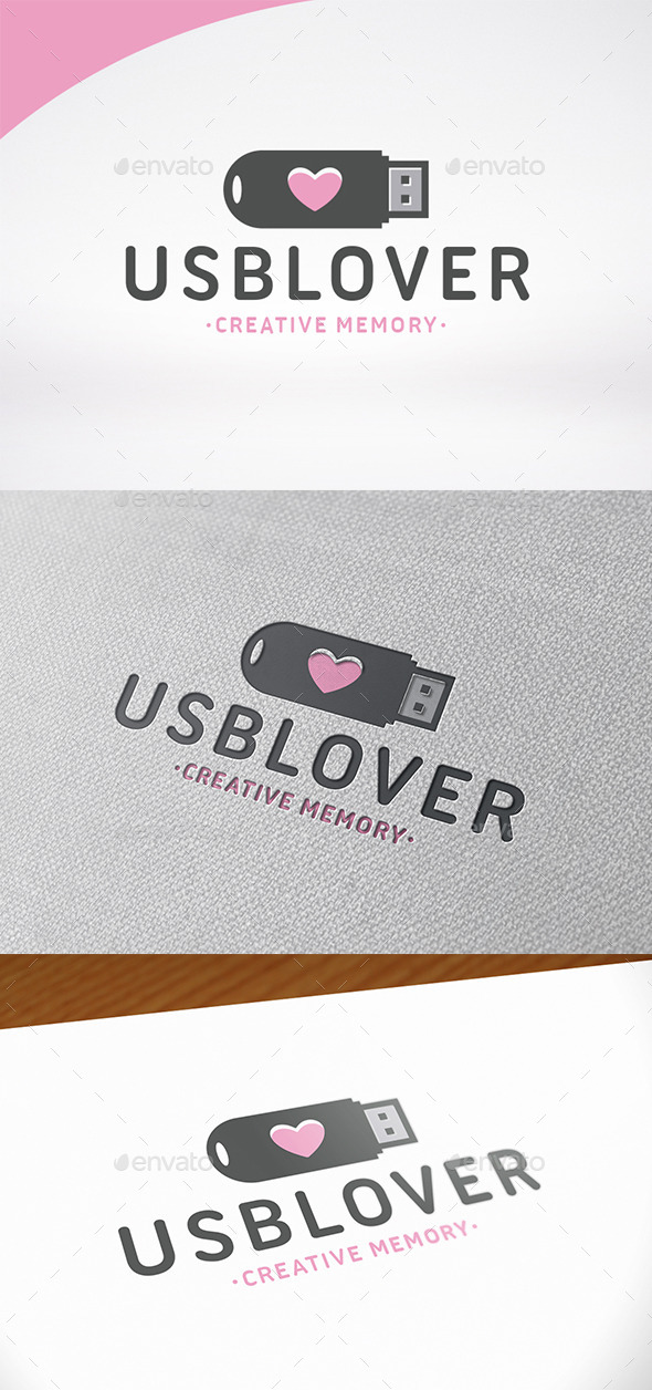 Usb Love Logo Template - Objects Logo Templates