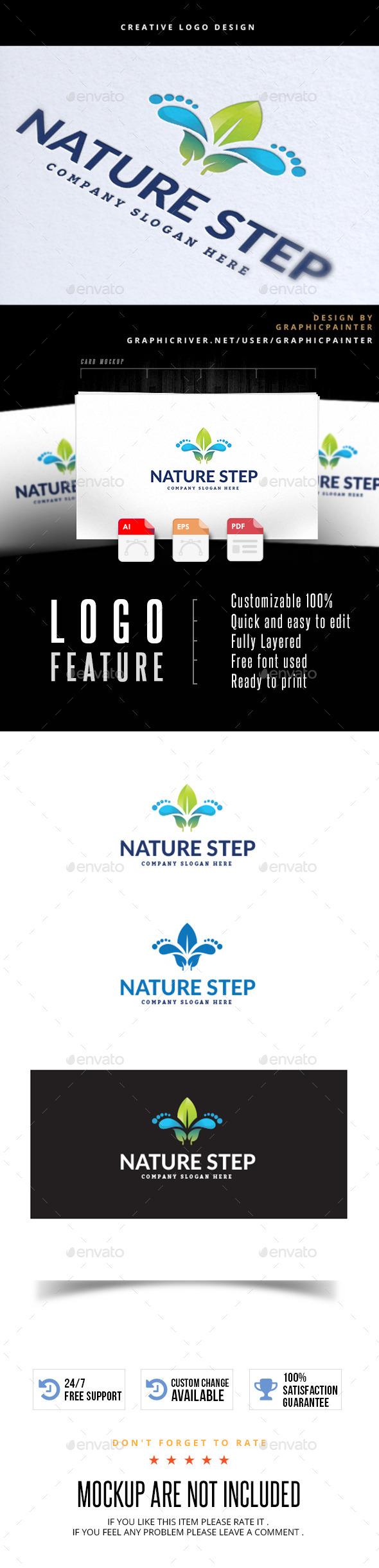 Nature Step - Nature Logo Templates