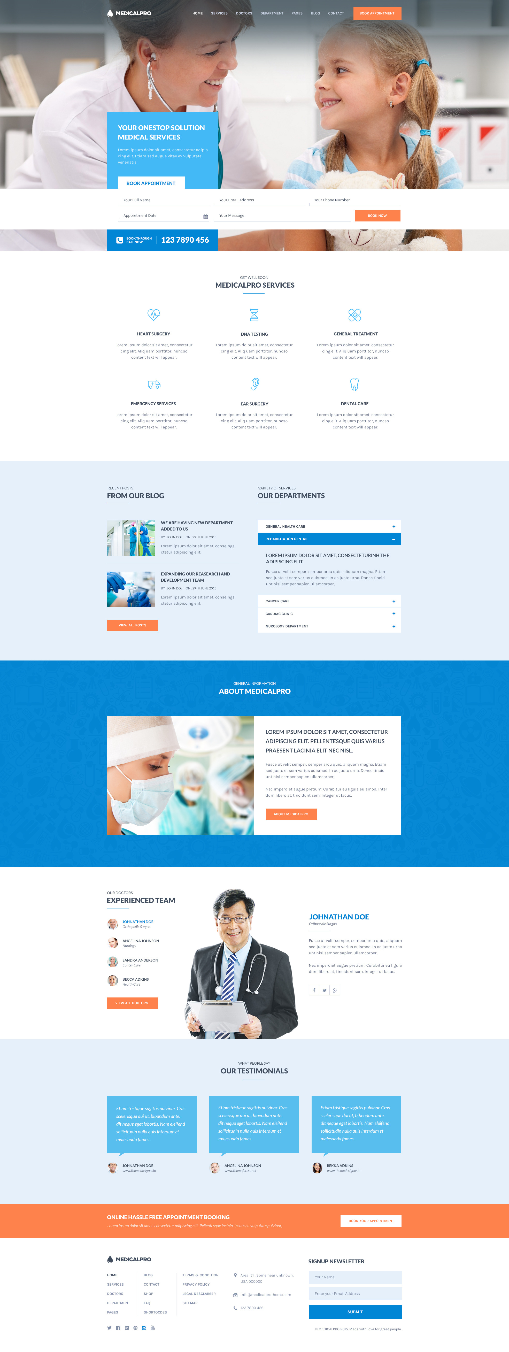 Medicalpro health and medical html template