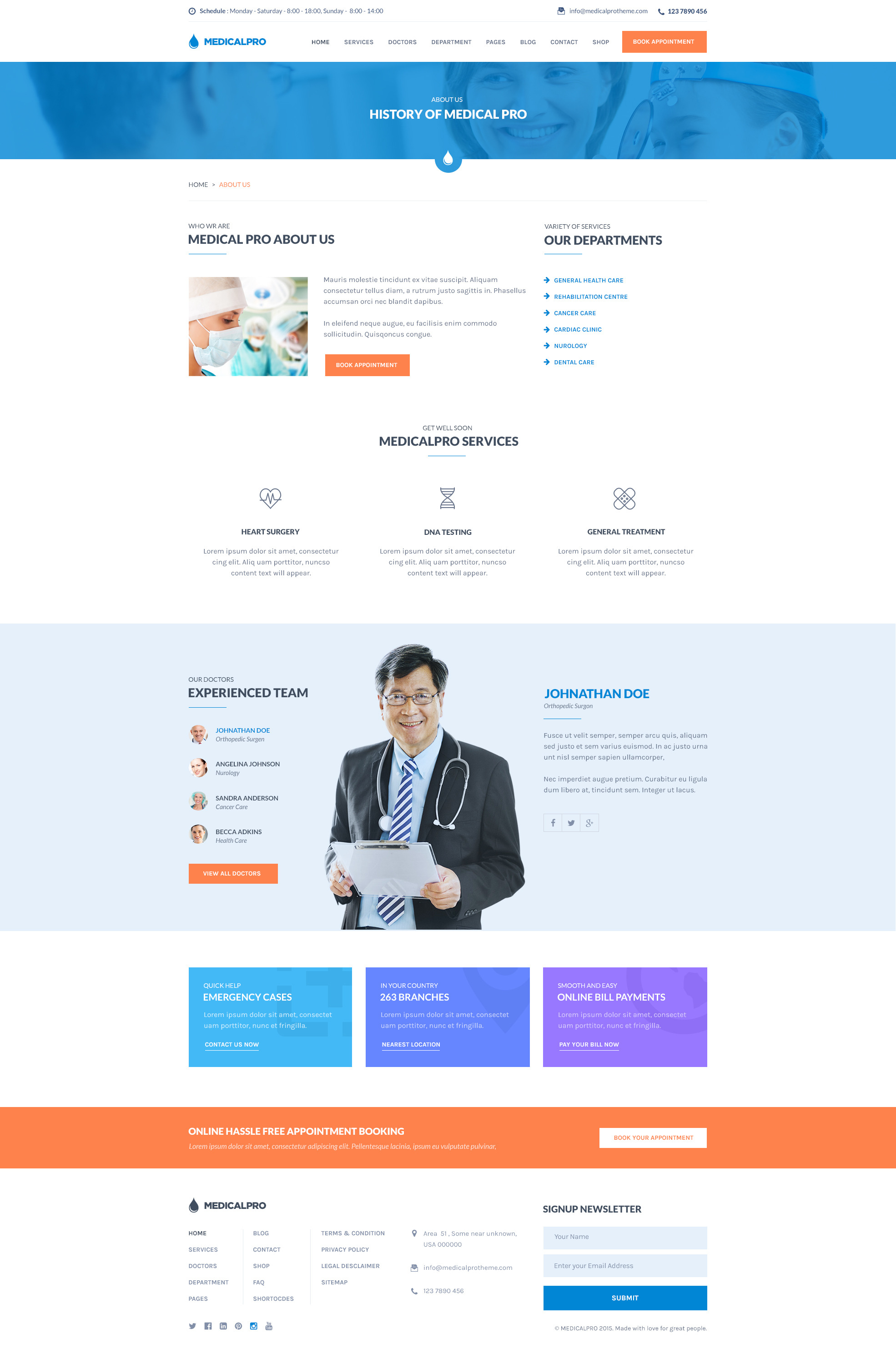 MedicalPRO - Health and Medical HTML Template by suniljoshi ...