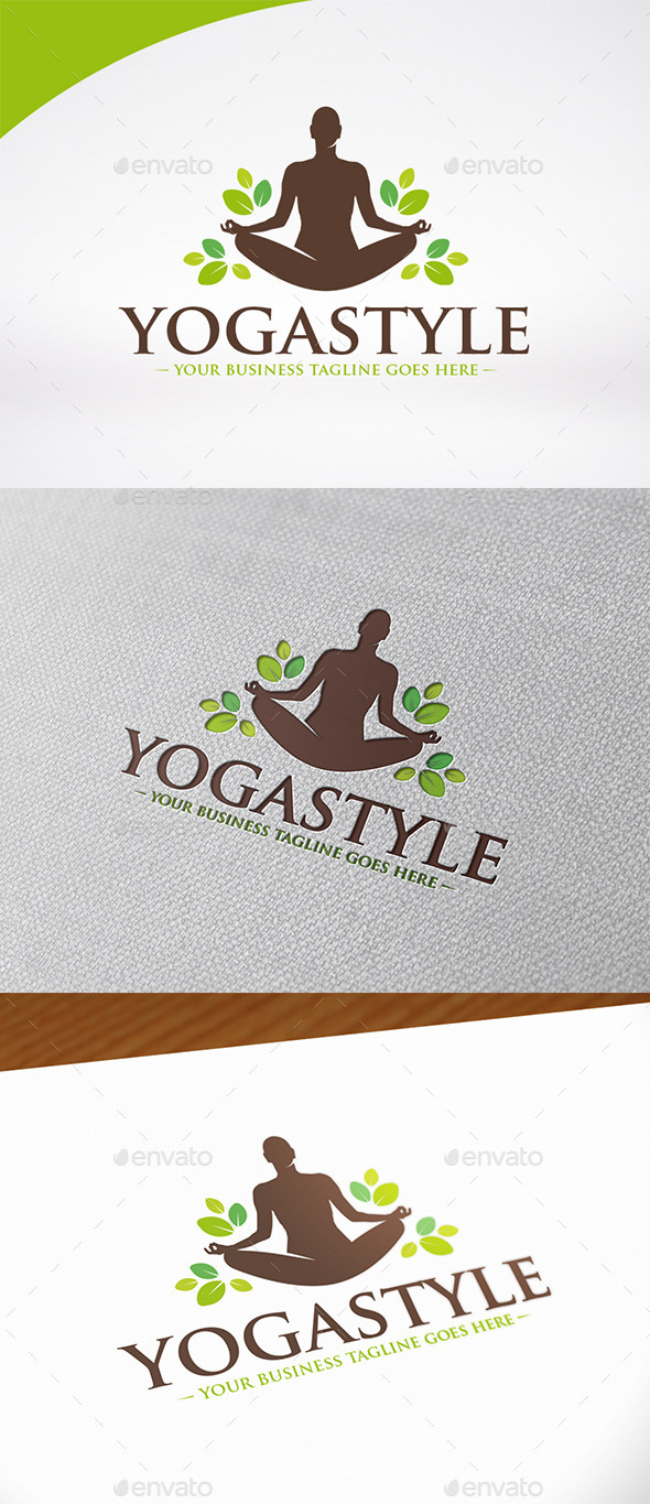 Yoga Wellness Logo Template - Humans Logo Templates