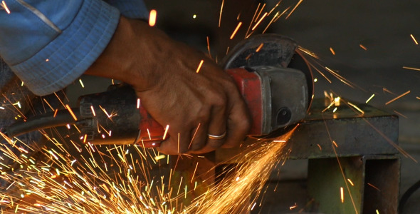 Working With an Angle Grinder