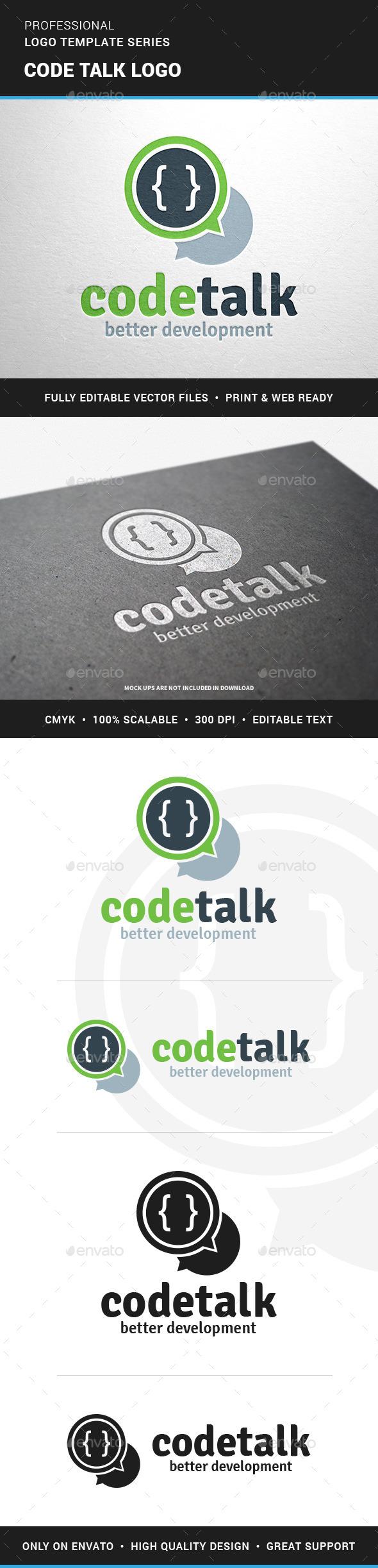Code Talk Logo Template - Symbols Logo Templates