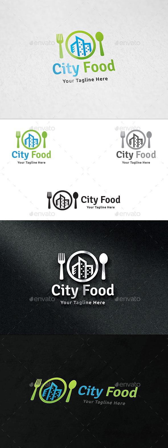 City Food Logo - Food Logo Templates