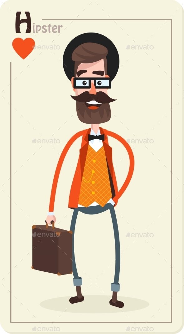 Hipster Character - People Characters
