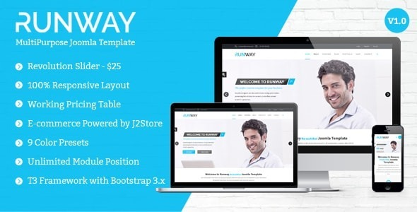 Runway - Responsive Multipurpose Joomla Template - Corporate Joomla