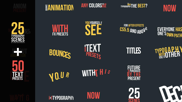 Bouncing Typography