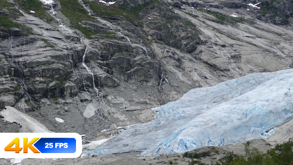 Glacier Nigardsbreen and Mountains in Norway