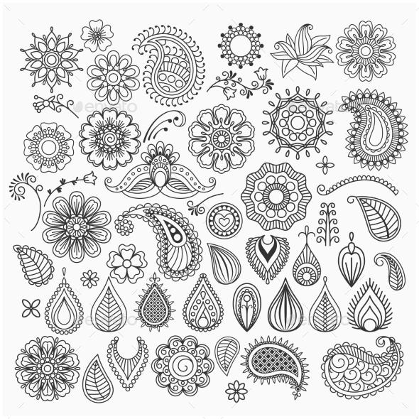 Hand Drawn Swirls - Borders Decorative