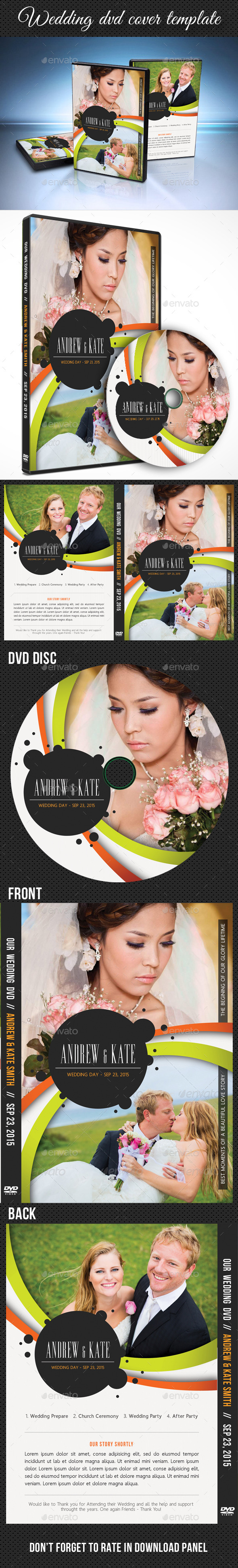 Wedding DVD Cover Template 14 - CD & DVD Artwork Print Templates