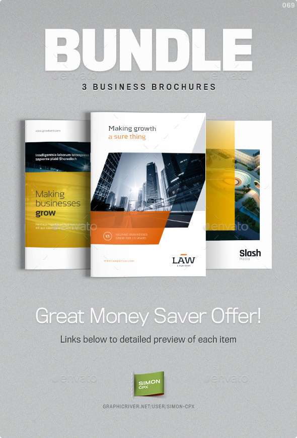 Brochure bundle templates for indesign by simon cpx for Free brochure indesign template
