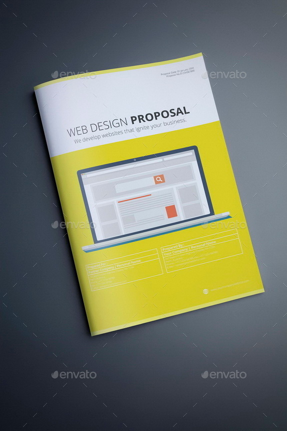 Web Design Proposal Template By Terusawa | Graphicriver