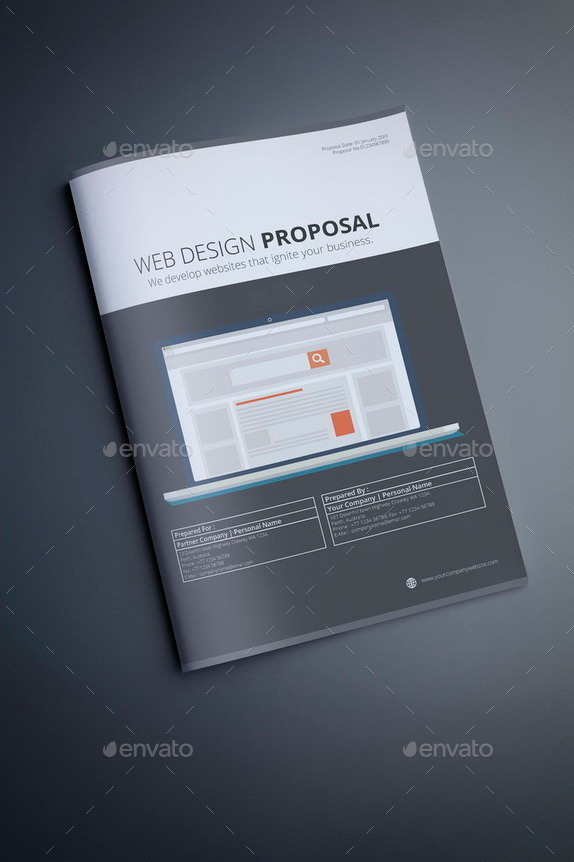 Web Design Proposal Template By Terusawa  Graphicriver