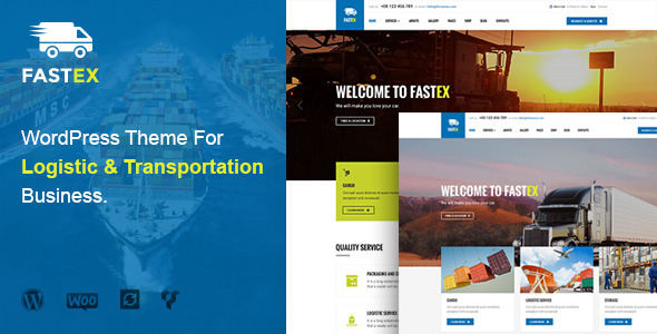 Transport & Logistics WordPress Theme – FastEx