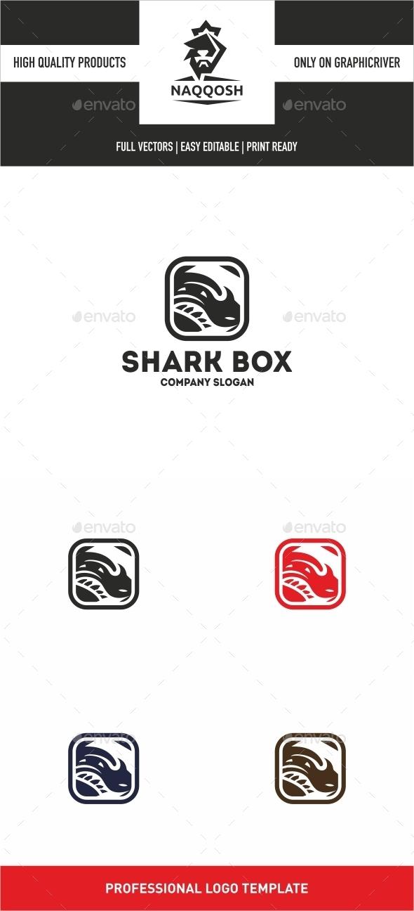 Shark Box - Animals Logo Templates