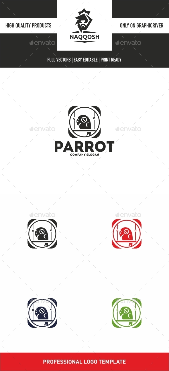 Parrot - Animals Logo Templates